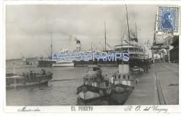 24127 URUGUAY MONTEVIDEO EL PUERTO PORT & SHIP POSTAL POSTCARD - Uruguay