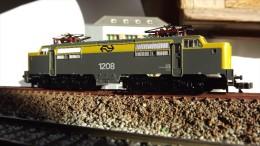 SCALA N ECHELLE - LOCO ELETTRICA MINITRIX 12826 - ELLOK 1208 NS -. N SPUR - Locomotive