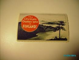 1940 HELSINKI FINLAND OLYMPICS  , LABEL CINDERELLA VIGNETTE , 0 - Non Classificati