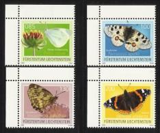 LIECHTENSTEIN  2009  BUTTERFLIES  SET MNH - Papillons