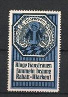 Vignette Publicitaire München, Rabatt-Sparverein, Münchner Kindl, Blau - Erinnophilie