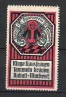 Reklamemarke München, Rabatt-Sparverein, Münchner Kindl, Rot - Erinnophilie