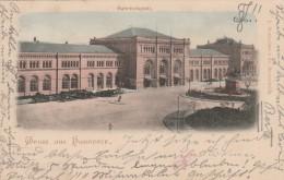 Hannover  -  1899 -  Bahnhofsplatz -  Scan Recto-verso - Hannover