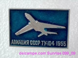 Soviet Airplane Tu-104 / Soviet Badge _099_0024_09 - Avions