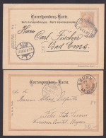 Brunn Am Gebirge Kaiserlich österreichische Post 2 Ganzachen Zu 2 Kreuzer Cesko Slovenska 1895, 1897 - Covers & Documents