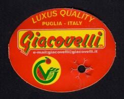 # UVA PUGLIA GIACOVELLI GRAPE Italy Fruit Tag Balise Etiqueta Anhänger Cartellino Raisin Uvas Traube - Fruits & Vegetables