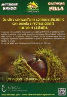 # CASTAGNE MITICA Ialy Tag Balise Etiqueta Anhänger Cartellino Fruits Frutas Chataignes Kastanien  Chestnuts Kastanjes - Fruits & Vegetables