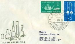 DDR - 1 9 1959 FDC 75°JENAER GLASWERKE - Vetri & Vetrate