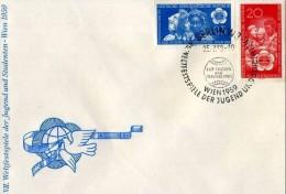 DDR - 25 6 1959 WELTFESTSPIELE DER JUGEND UND STUDENTEN -WIEN - Giochi