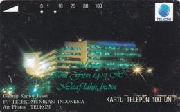 Indonesia, S136, Selamat Idul Fitri 1413 H - Gedung Kantor Pusat Pt. Telekomu, 2 Scans. - Indonesia
