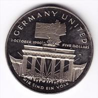 1990 Marshall Islands 'Germany United' Commemorative $5 Coin - Marshall