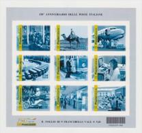 ITALIA REPUBBLICA 2012 CODICE A BARRE  150° ANNIVERSARIO DELLE POSTE ITALIANE FOGLIETTO CON CODICE  MNH - Barcodes