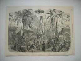 GRAVURE 1855. EXPOSITION DE L'INDUSTRIE UNIVERSELLE. PRODUITS DES COLONIES FRANCAISES. - Estampas & Grabados