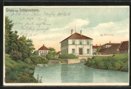 AK Oberschleissheim, Kgl. Brunhaus Vom Flussufer Gesehen - Oberschleissheim