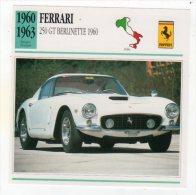 DEC15   72093 FERRARI  250 GT     ( Fiche Auto ) - Autorennen - F1