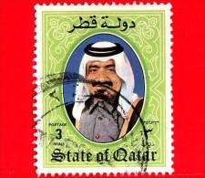 QATAR - Usato - 1984 - Sceicco Khalifa Bin Hamed Al-Thani - 3 - Qatar