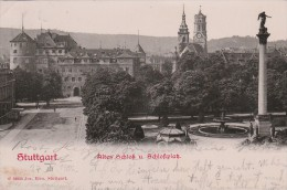 Stuttgart - Altes Schloss ( 1902) - Scan Recto-verso - Stuttgart