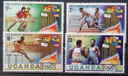 Uganda, 1980, Mi: 278/81 (MNH) - Verano 1980: Moscu