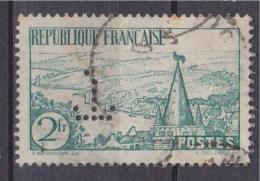= Rivière Bretonne 2f Vert N°301 Oblitéré Perforé - Gezähnt (Perforiert/Gezähnt)