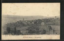 CPA La Ville, Vue Generale Avec L'Église - France