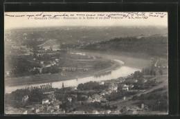 CPA Couzon, Panorama De La Ville, De La Saône, Au Fond Fontaine - France