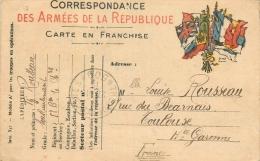 CARTE POSTALE EN FRANCHISE MILITAIRE - Non Classés