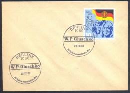 Germany Deutschland DDR 1982 Cover: Cosmos Weltraum; 25 Jahre Kosmisches Ära: W. P. Gluschko Cancellation - FDC & Gedenkmarken