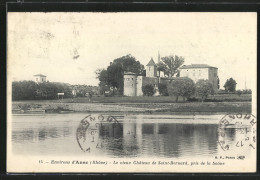 CPA Saint-Bernard, Vue Du Vieux Château De Saint-Bernard, Prise De La Saône - France