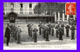 18. CHER - VIERZON. Ecole Nationale Professionnelle. Exercice De Gymnastique. TB Plan. - Vierzon