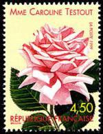 France N° 3249 ** FLEUR - Rose «Mme Caroline Testout» - Nuevos