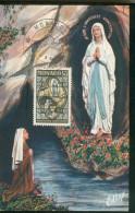 Carte Maximum Monaco   - Lourdes - L'apparition - Monaco