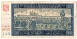 BOHEMIA & MORAVIA      100 KORUN      20/8/1940      P. 7a      (voir 2 Scans) - Andere - Europa