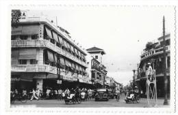 SAIGON (Viet Nam) Carte Photo Rue Automobiles Animation - Vietnam