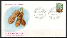 """SENEGAL  1er JOUR   Le  18 Dec 1965 DAKAR   """"  L ARACHIDE  """" - Sénégal (1960-...)"""
