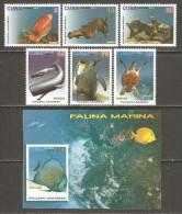 2015 Mi# 5865-5870, Block 314 ** MNH - Marine Fauna - Cuba