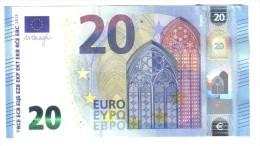 NEW 20 € Mario Draghi Italia Serie SA S012D6 Q.fds Cod.€.165 - EURO