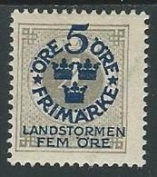 1910 SVEZIA PRO MILIZIA TERRITORIALE 5+5 SU 4 ORE MH * - ZX0.7 - Neufs