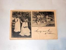 Carte Postale Ancienne : TAHITI, BORABORA : La Reine Teriimaevarua, Timbre 1904 - Polynésie Française