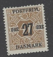 Danimarca - 1918 - Nuovo/new MH - Sovrastampati - Mi N. 92 - Ongebruikt