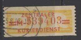 DDR - 1958 - Usato/used - Servizio ZKD - Mi N. 17 - [6] Repubblica Democratica