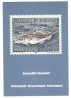 Timbre, Représentation Sur Carte Postale Neuve (timbres Gronland-Greenland-Grönland) - Timbres (représentations)