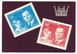 Timbre, Représentation Sur Carte Postale Neuve (timbres Suède-Sverige)) - Timbres (représentations)