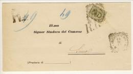 Bel Piego Da Roma A Siena 11-10-1899 Affrancato Con N. 63 C. 45 Verde Oliva - 1878-00 Umberto I
