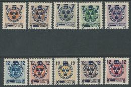 1918 SVEZIA SOPRASTAMPATI 10 VALORI MH * - ZX0.9 - Nuovi