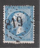 Empire N° 22 Obl GC 819 De CERVIONE , Corse ,  INDICE 8, TB - 1862 Napoleon III
