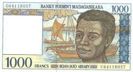 MADAGASCAR, Billet De 1.000 Francs Neuf, Scan Recto-Verso - Madagascar