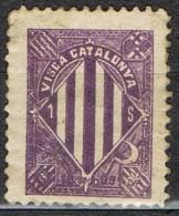 Visca Catalunya Catalanista, Separatista Stamps . Escudo, Violeta * - Variedades & Curiosidades