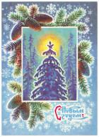 USSR, 1976. HAPPY NEW YEAR! WINTER FOREST, FIR CONES. Artist B. Parmeev. Postal Stationery Card. Unused - Nieuwjaar