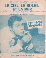 François DEGUELT.le Ciel Le Soleil La Mer. - Partitions Musicales Anciennes
