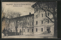 CPA Valence, Quartier De L'Ancien Séminaire, Artillerie Lourde, Soldats - Valence
